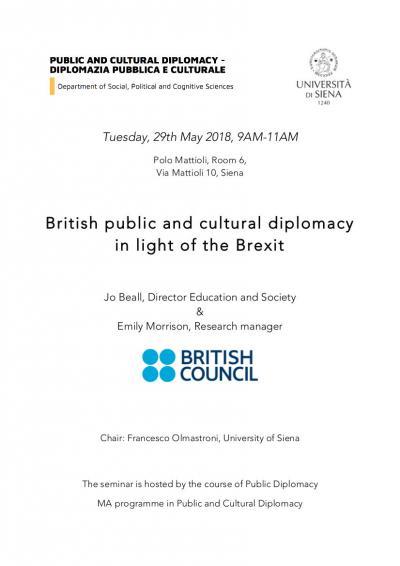 Seminario Public and Cultural Diplomacy